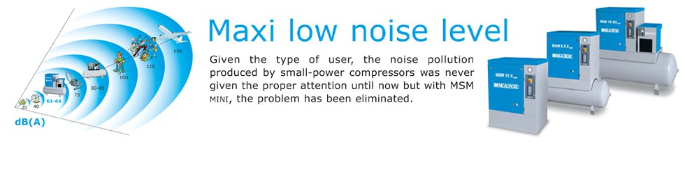 low noise level compressor